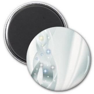 Diamantes en la plata imán para frigorífico
