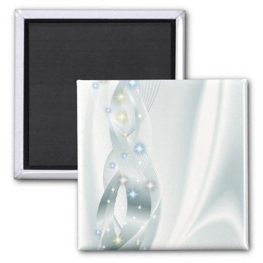 Diamantes en la plata iman para frigorífico