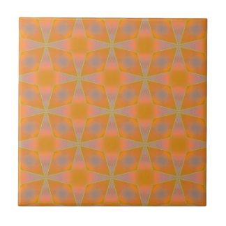 Diamantes en naranja azulejos cerámicos