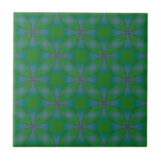 Diamantes en verde teja  ceramica