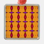 Diamantes étnicos rojo del Rhombus, púrpura en el  Adornos