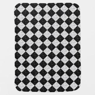 Diamantes geométricos blancos negros de Chec - Mantitas Para Bebé