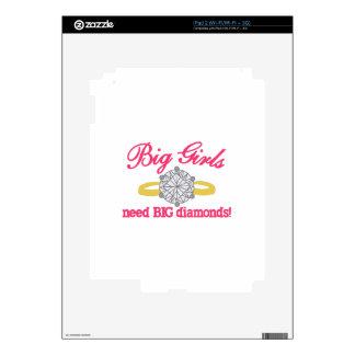 Diamantes grandes calcomanía para el iPad 2