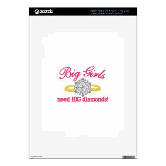 Diamantes grandes iPad 3 pegatinas skins
