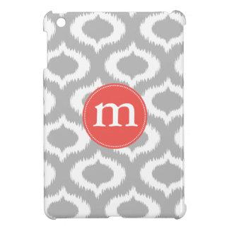 Diamantes grises modernos de Ikat personalizados iPad Mini Funda