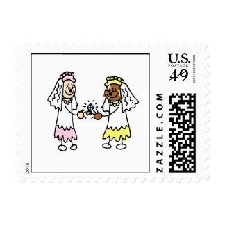 Diamantes lesbianos timbres postales