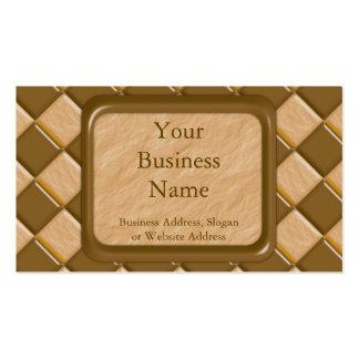 Diamantes - mantequilla de cacahuete del chocolate tarjetas de negocios