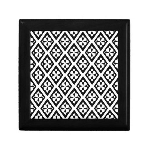 Diamantes medievales - blancos y negros cajas de joyas