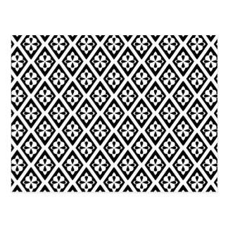 Diamantes medievales - blancos y negros tarjetas postales