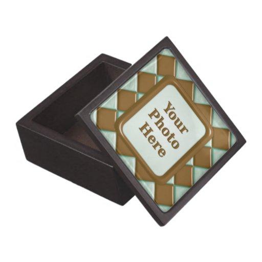 Diamantes - menta del chocolate cajas de joyas de calidad