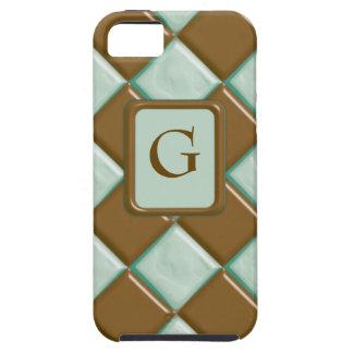 Diamantes - menta del chocolate funda para iPhone 5 tough