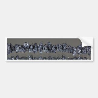 Diamantes negros crudos de Carbonados Pegatina Para Auto