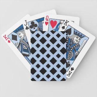 Diamantes negros en azul claro baraja de cartas