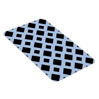 Diamantes negros en azul claro imán de vinilo