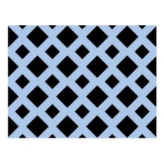 Diamantes negros en azul claro tarjeta postal
