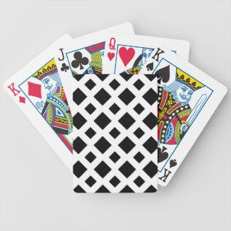 Diamantes negros en blanco baraja cartas de poker