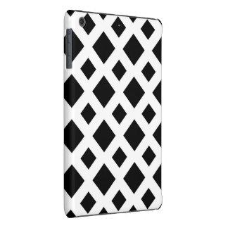 Diamantes negros en blanco fundas de iPad mini