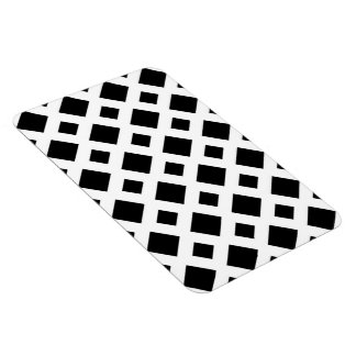 Diamantes negros en blanco imanes rectangulares