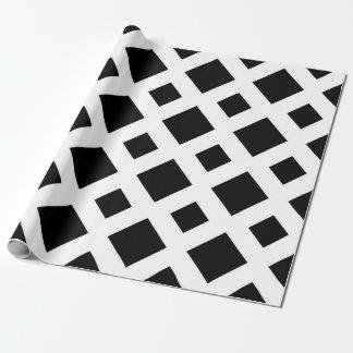Diamantes negros en blanco papel de regalo