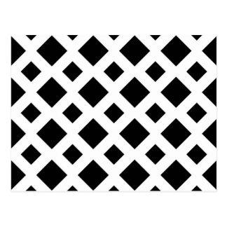 Diamantes negros en blanco postales