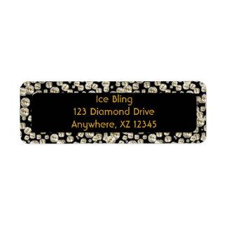 Diamantes negros etiqueta de remite