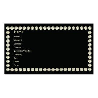 Diamantes negros - negocio plantilla de tarjeta de negocio