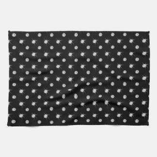 Diamantes negros toallas de mano