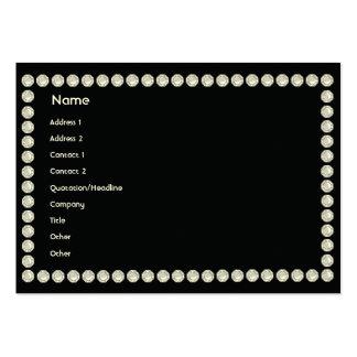 Diamantes negros - rechonchos plantilla de tarjeta personal