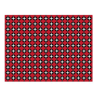 Diamantes negros y blancos rojos de la estrella tarjeta postal