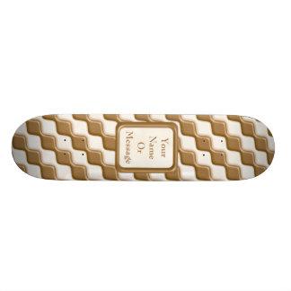 Diamantes ondulados - leche y chocolate blanco tablas de skate