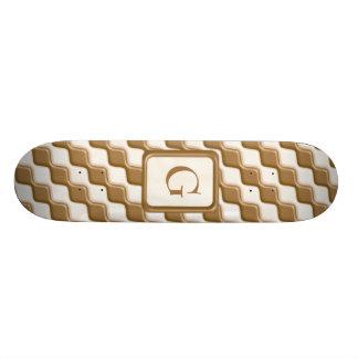 Diamantes ondulados - leche y chocolate blanco patines personalizados