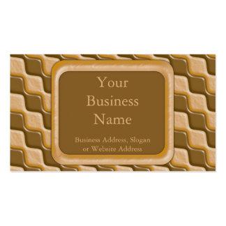 Diamantes ondulados - mantequilla de cacahuete del tarjetas de negocios