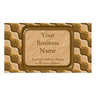 Diamantes ondulados - mantequilla de cacahuete del tarjetas de visita