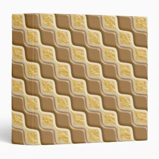 """Diamantes ondulados - melcocha del chocolate carpeta 1 1/2"""""""