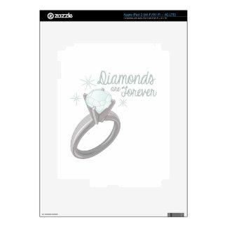 Diamantes para siempre pegatinas skins para iPad 3