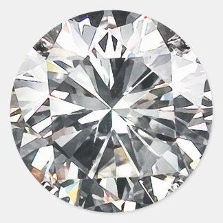 Diamantes Pegatina Redonda