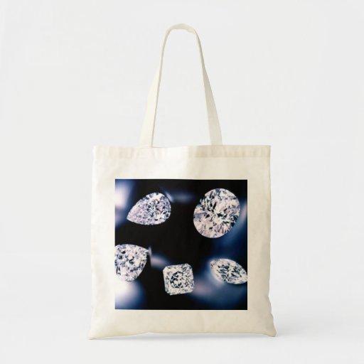 Diamantes preciosos bolsa lienzo
