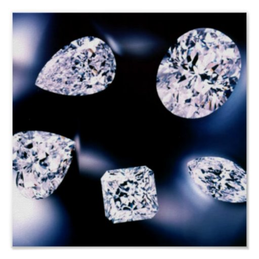 Diamantes preciosos póster