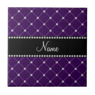 Diamantes púrpuras conocidos personalizados teja cerámica