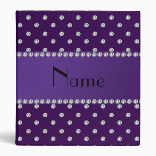 """Diamantes púrpuras conocidos personalizados carpeta 1"""""""