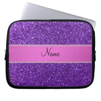 Diamantes púrpuras conocidos personalizados del br fundas portátiles