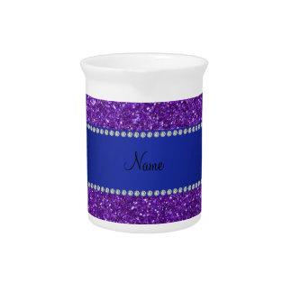 Diamantes púrpuras conocidos personalizados del br jarras para bebida