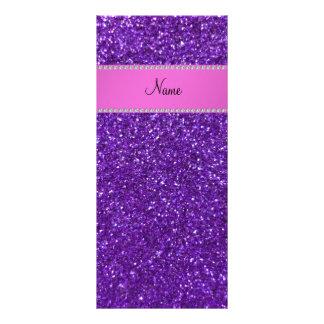 Diamantes púrpuras conocidos personalizados del tarjeta publicitaria