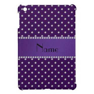 Diamantes púrpuras conocidos personalizados iPad mini cobertura