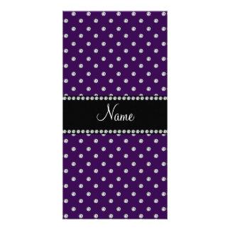 Diamantes púrpuras conocidos personalizados tarjetas personales