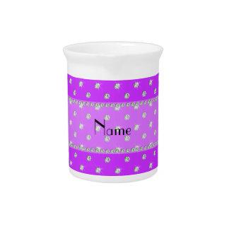 Diamantes púrpuras de neón conocidos personalizado jarra para bebida