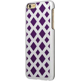 Diamantes púrpuras en blanco