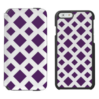 Diamantes púrpuras en blanco funda billetera para iPhone 6 watson