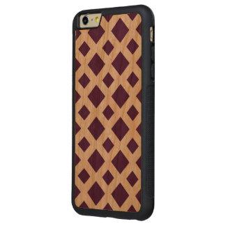 Diamantes púrpuras en blanco funda de cerezo bumper carved® para iPhone 6 plus