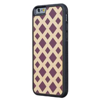 Diamantes púrpuras en blanco funda de iPhone 6 bumper arce
